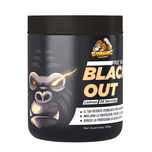 black out pre workout 200gr dyinamic